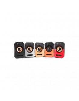 Тонколони Kisonli А-606, 3W*2, USB, Различни цветове - 22118