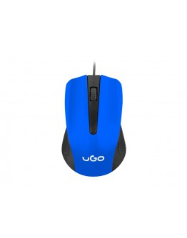 uGo Mouse UMY-1215 optical 1200DPI, Blue-Black